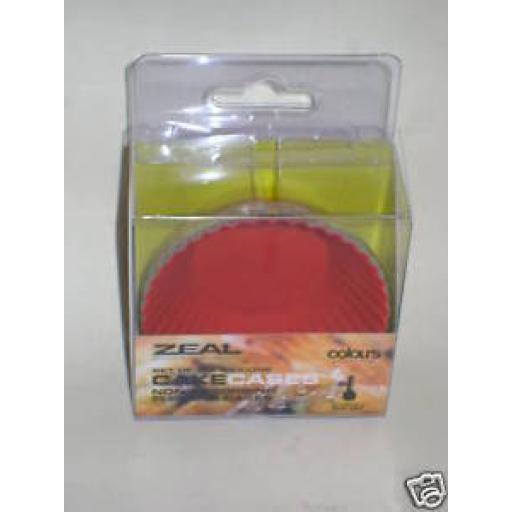 New Cks Zeal Non Stick Silicone Bun Cake Muffin Cases Pk 6 J215
