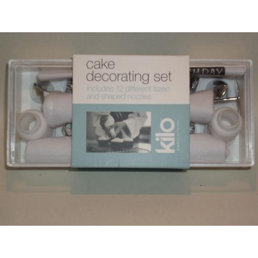 New Kilo Icing Bag Set Stainless Steel Nozzles 12 N89 Damaged Packaging