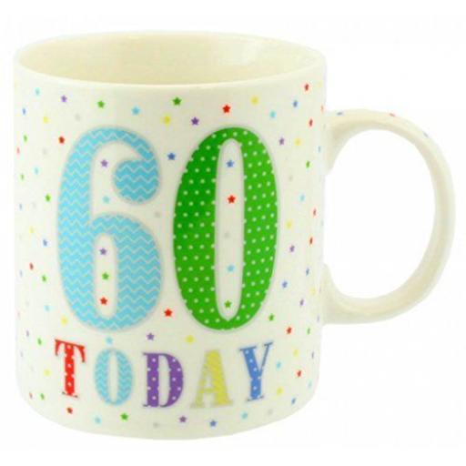 New Lesser And Pavey Fine China Mug Beaker Coffee Tea 60 Today LP33524