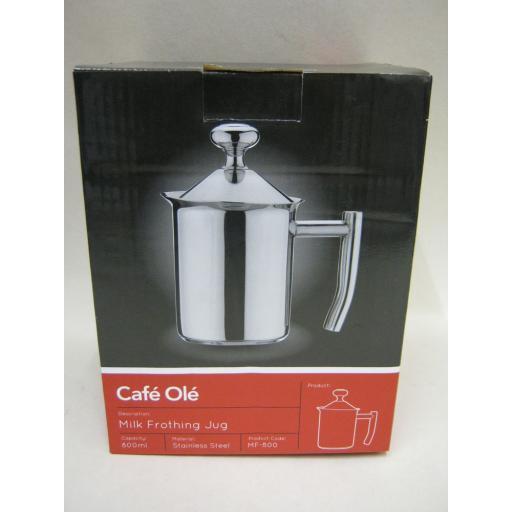 New Grunwerg Cafe Ole Stainless Steel Milk Frothing Jug 800ml MF-800