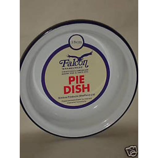New Falcon Enamel Round White Pie Baking Dish Tin 18cm