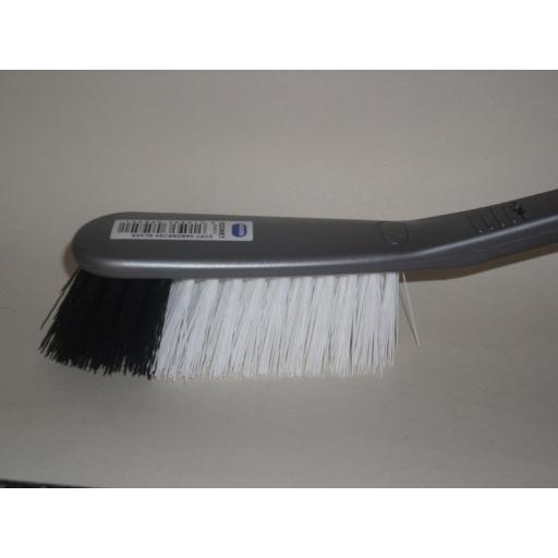 New Addis Stiff Hard Bristle Nylon Hand Brush Silver