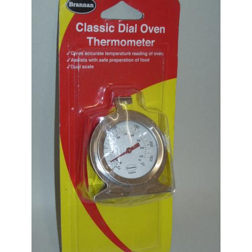 New Brannan Oven Thermometer Temperature Gauge Stainless Steel