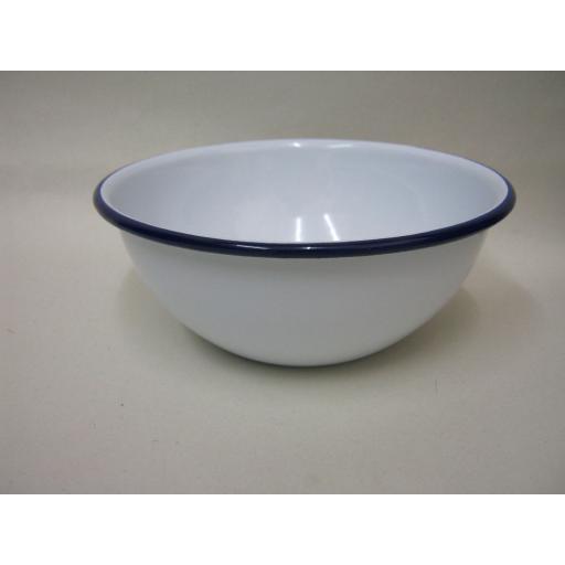 New Falcon Enamel Round White Pudding Cereal Bowl Basin 16cm