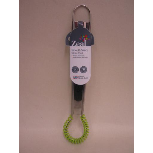 New Zeal Mini Coil Rim Silicone Sauce Whisk Lime Green J318