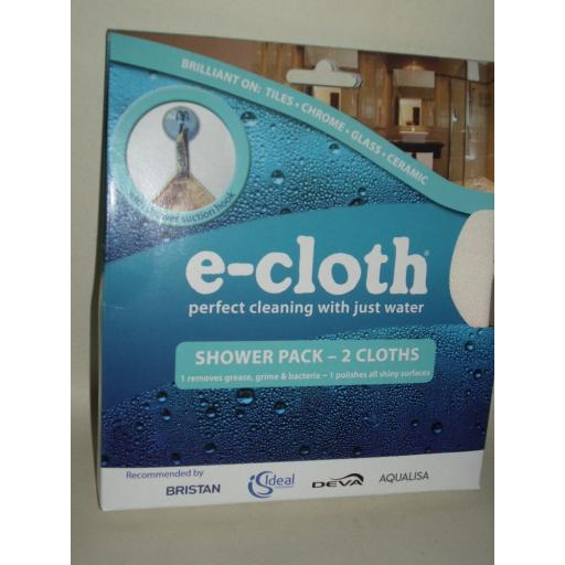 New E-Cloth Shower Cleaner Cleaning Pack 2 x Cloths