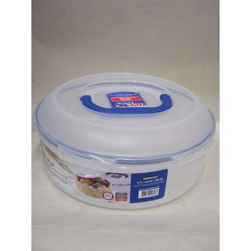 New Lock and & Lock Clear Storage Cake Carrier Round Container HSM954HT