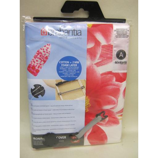 New Brabantia Cotton Ironing Board Cover A 110cm x 30cm Design Pink Flower