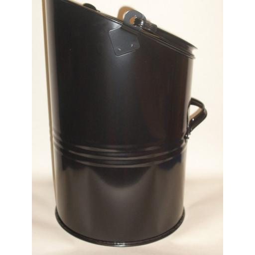 "New Parasene Elipse Coal Scuttle Bucket Metal Hod Black 16"""