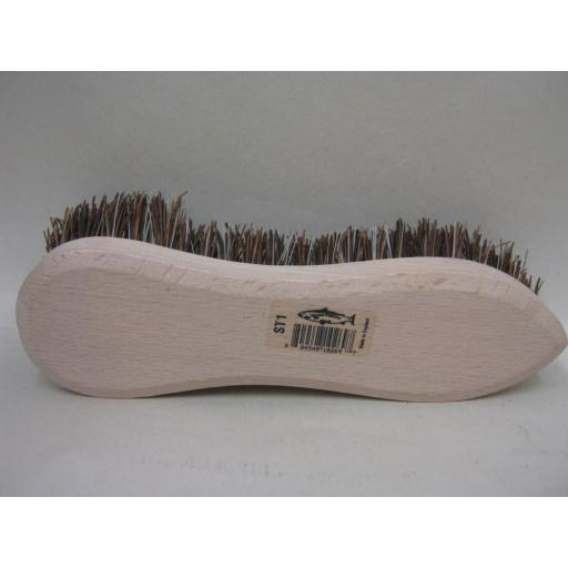 New Salmon Traditional Wood Scrubbing Brush Bassine Bristles Single Wing ST1