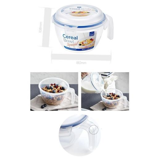 New Lock and & Lock Clear Plastic Food Cereal Container 950ML HPL973