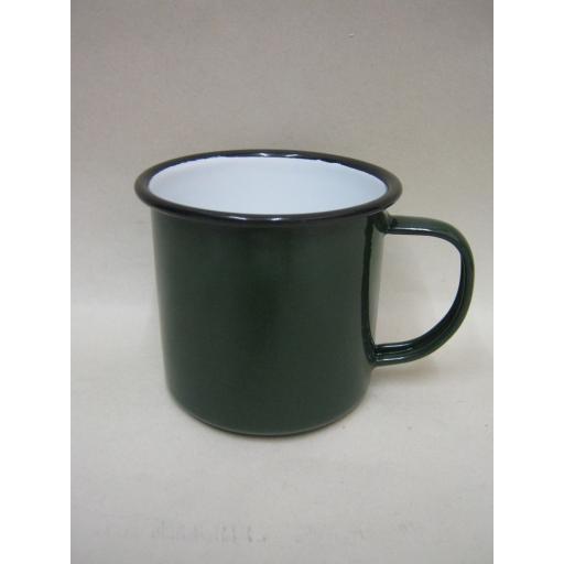 New Falcon Enamel Mug Beaker Cup Tea Camping 8cm Green