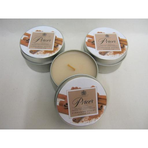 New Prices Wax Scented Candle Tin Cinnamon Sticks Pk 3 Triple Pack
