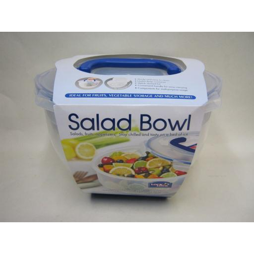 New Lock and & Lock Storarage Salad Bowl Round Clear HSM957T