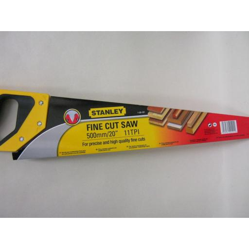 New Stanley Fine Cut Hand Saw 500mm/20inch 11TPI