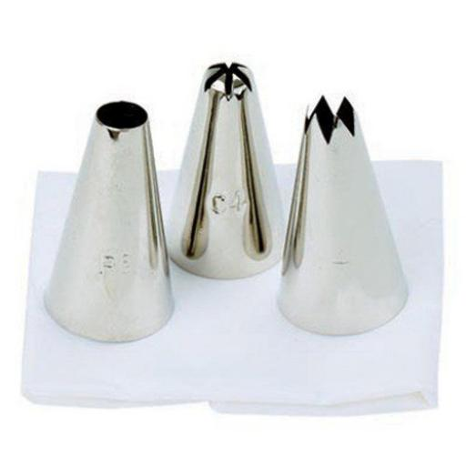 New Tala Icing Bag Food Piping Set of 3 Nozzles Potato 10A 09451
