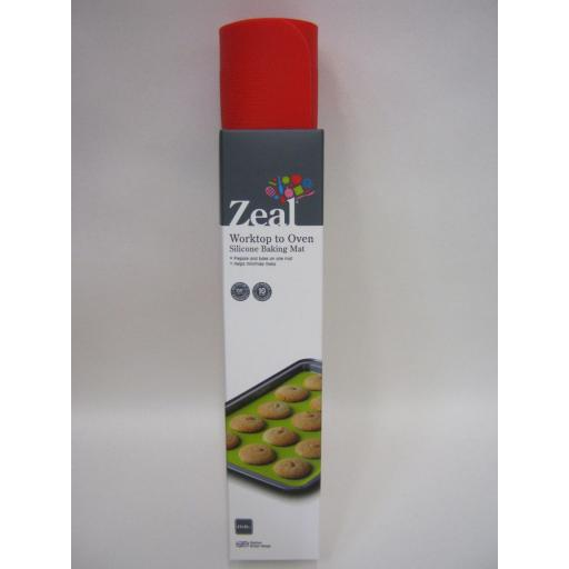 New Zeal Worktop To Oven Non Stick Silicone Baking Mat Sheet N171 Red