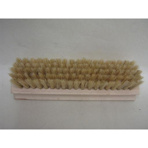 New Elliott Cleaning Brown Shoe Polishing Polish Brush Wood Back