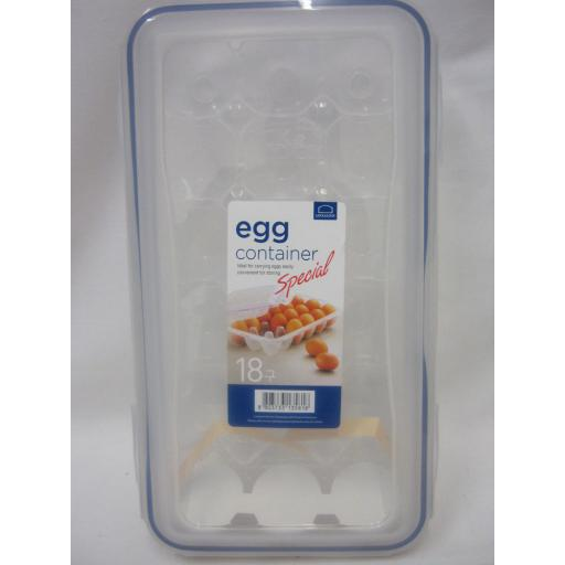 New Lock And Lock Egg Storer Container 18 Holes Clear Plastic HPL955