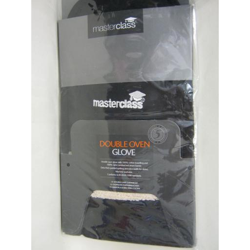 New Masterclass Double Oven Glove Black Cotton MCDBGLOVEBLK