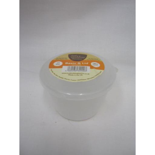 New Just Pudding Basins Plastic Pudding Bowl Basin And Lid 1/4 Pint 140ml