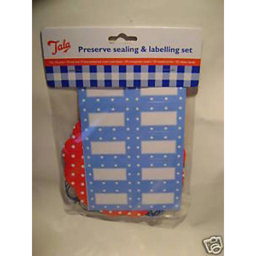 New Tala Jam Pot Covers Preserve Sealing & labelling Set 1lb Pots Jars Spots 126