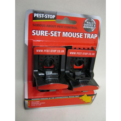 New Pest Stop Sure Set Reusable Powerful Action Mouse Trap Pk2