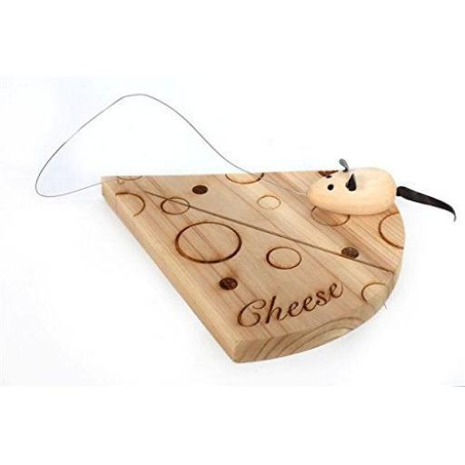 New Wooden Hardcrafted Chese Board Slicer Mouse GS0101