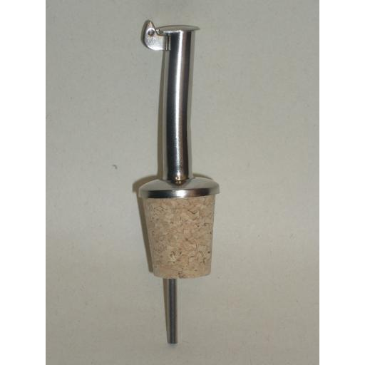 New CKS Metal Olive Oil Spirit Pourer Spout Drizzler Cork Stopper J104