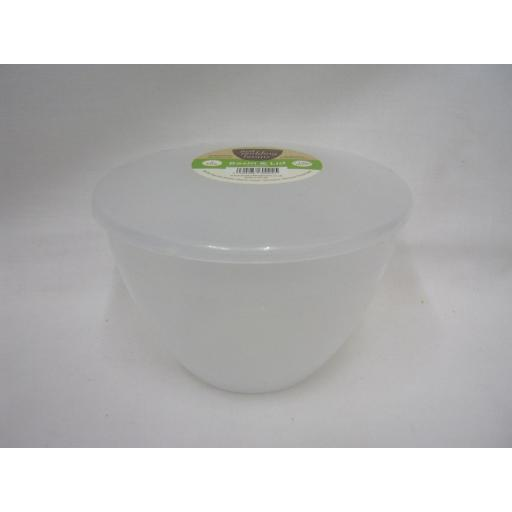 New Just Pudding Basins Plastic Pudding Bowl Basin And Lid 2 Pint 1.14 Lts