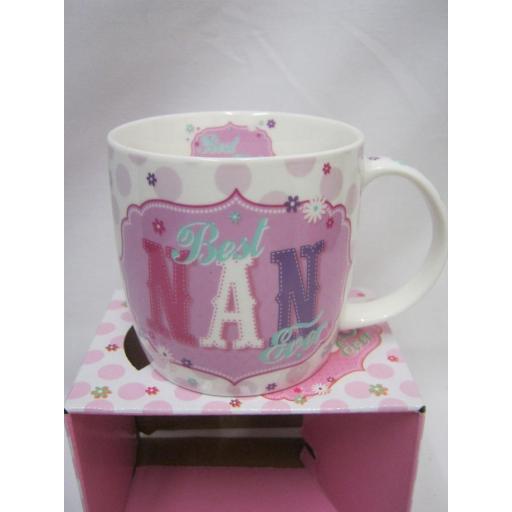 New BGC Fine China Mug Beaker Coffee Tea Cup Best Nan Ever KL0025