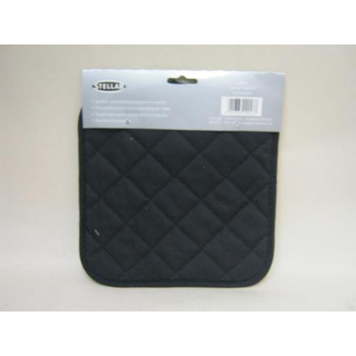 New Stellar Thermal Resistant Pot Holder Black Cotton Drill STE01