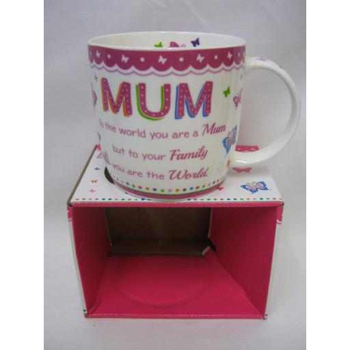 New BGC Fine China Mug Beaker Coffee Cup Tea Mum To The World You Are A Mum