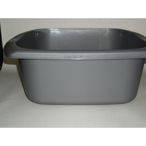 New Addis Silver Oblong Plastic Washing Up Bowl 38cm 15 Inch