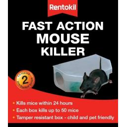 New Rentokil Fast Action Mouse Killer Bait Box 2 Pack