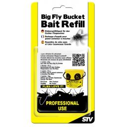 New STV Big Yellow Fly Trap Catcher Bucket Bait Refill 32g STV507