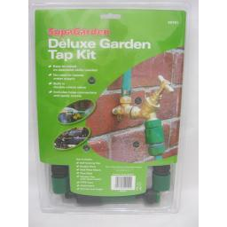 New Supagarden Deluxe Outdoor Outside Garden Tap Kit SOTS1