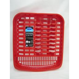 New Addis Oblong Plastic Washing Up Dish Drainer Plate Rack Red 516227 New Shape