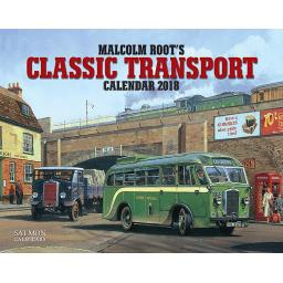 New Salmon Calendars Wall Calendar 2018 Malcolm Root's Classic Transport