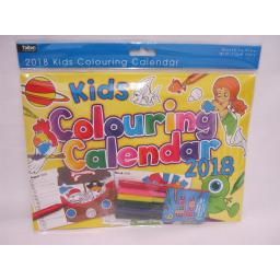 New Tallon Kids Colouring Calendars Wall Calendar 2018