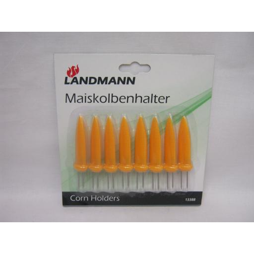 New Landmann Yellow Corn On The Cob Shaped Holders Forks Skewers 13388 Pk 8
