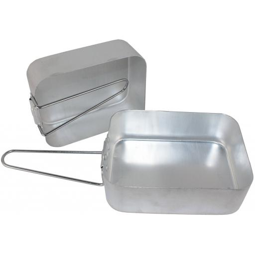 New Yellowstone Compact Camping Aluminium Pack Of 2 Piece Mess Tin Set Tins