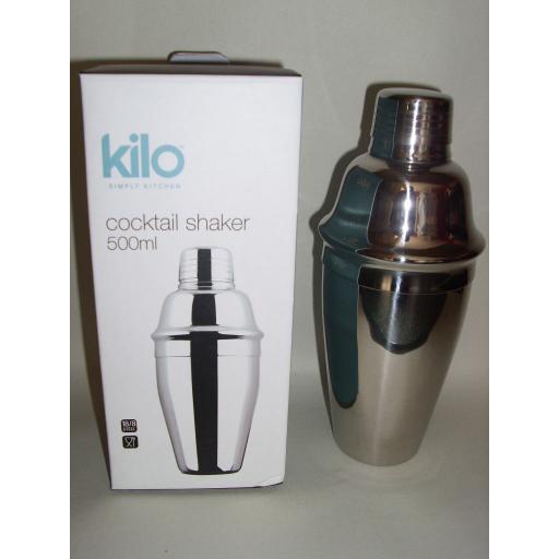 New Kilo Stainless Steel Cocktail Shaker 500ml E173