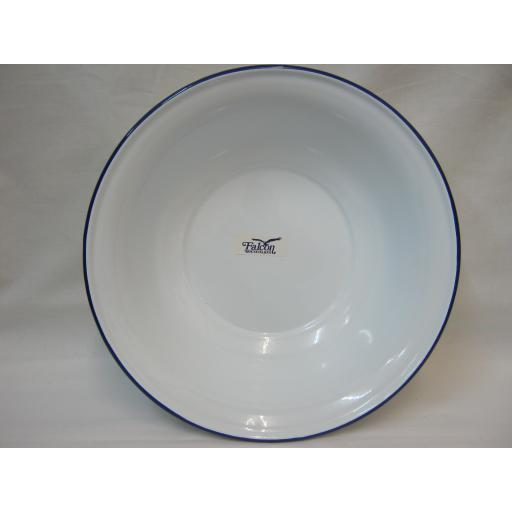 New Falcon Enamel White Wash Basin Bowl Washing Up 30cm 41030
