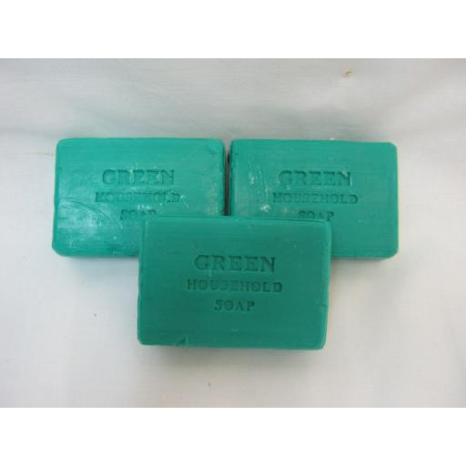 New Traditional Green Household Kitchen Soap 125g Pk 3 Bars