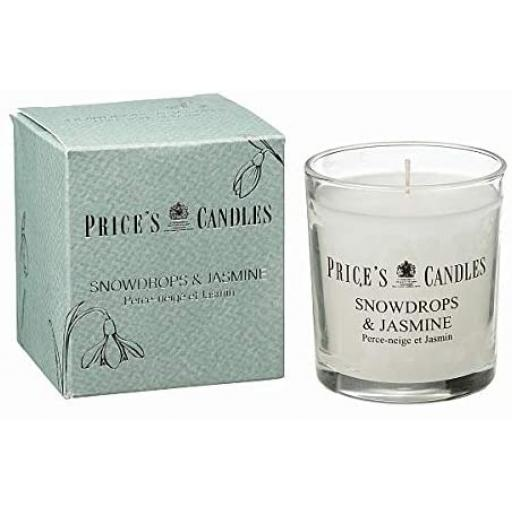 New Prices Scented Candle Glass Jar Snowdrops And Jasmine