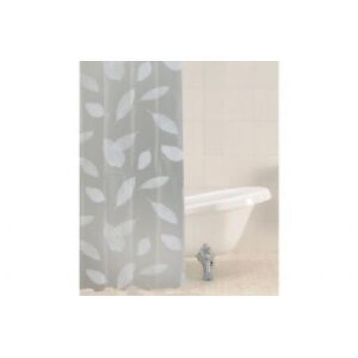 Sabichi Bath Shower Curtain Peva Inc 12 Hooks Leaves 180cm x 180cm 186171