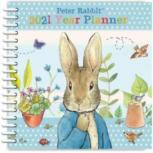 Peter Rabbit Year Planner Diary Pastel Stripes Spiral Bound 2021