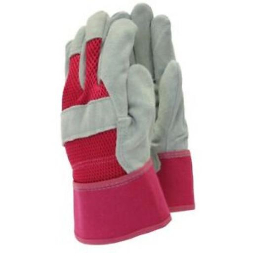 Town And Country Gardening Gloves Glove All Round Rigger Ladies TGL106S 7 Pink
