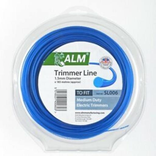 ALM Medium Duty Trimmer Line 1.5mm 180m SL006 Blue